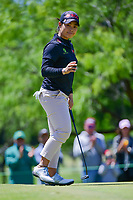 Moriya Jutanugarn (THA) acknowledges the gallery after sinking her putt on 1 during round 4 of  the Volunteers of America Texas Shootout Presented by JTBC, at the Las Colinas Country Club in Irving, Texas, USA. 4/30/2017.<br /> Picture: Golffile | Ken Murray<br /> <br /> <br /> All photo usage must carry mandatory copyright credit (&copy; Golffile | Ken Murray)