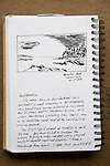 Botantical Beach, Vancouver Island, ink on paper, Journal Art 2008,