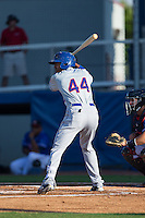 Jose Miguel Medina (44) of the Kingsport Mets at bat against the Danville Braves at American Legion Post 325 Field on July 9, 2016 in Danville, Virginia.  The Mets defeated the Braves 10-8.  (Brian Westerholt/Four Seam Images)