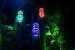 Cicadas lanterns during the Vivid 2016 Sydney Festival at Taronga Zoo, Sydney Australia.