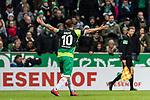 10.02.2019, Weserstadion, Bremen, GER, 1.FBL, Werder Bremen vs FC Augsburg<br /><br />DFL REGULATIONS PROHIBIT ANY USE OF PHOTOGRAPHS AS IMAGE SEQUENCES AND/OR QUASI-VIDEO.<br /><br />im Bild / picture shows<br />Max Kruse (Werder Bremen #10) Kapit&auml;n / mit Kapit&auml;nsbinde und Trauerflor beschwert sich / unzufrieden mit Schiedsrichterentscheidung, <br /><br />Foto &copy; nordphoto / Ewert