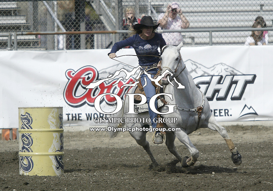 29 Aug 2009:   Rachael Ross scored a time of 18.07 in the Barrel Racing competition at the Kitsap County Wrangler Million Dollar PRCA Pro Rodeo Tour in Bremerton, Washington.