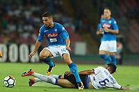 Dries Mertens Napoli e Jose Luis Palomino Atalanta<br /> Napoli 27-08-2017  Stadio San Paolo <br /> Football Campionato Serie A 2017/2018 <br /> Napoli - Atalanta<br /> Foto Cesare Purini / Insidefoto