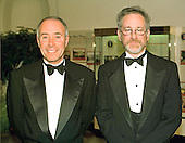 Washington, DC - October 29, 1997 -- David Geffin, The David Geffin Company and Steven Spielberg, President, Dreamworks, arrive at The White House in Washington, DC for the State Dinner honoring Chinese President Jiang Zemin on October 29, 1997.<br /> Credit: Ron Sachs / CNP