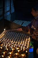 Pilgrims at Boudhanath Kathmandu also known as little Tibet, Nepal