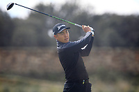 Daniel Im (USA) on the 11th tee during Round 2 of the Open de Espana 2018 at Centro Nacional de Golf on Friday 13th April 2018.<br /> Picture:  Thos Caffrey / www.golffile.ie<br /> <br /> All photo usage must carry mandatory copyright credit (&copy; Golffile | Thos Caffrey)