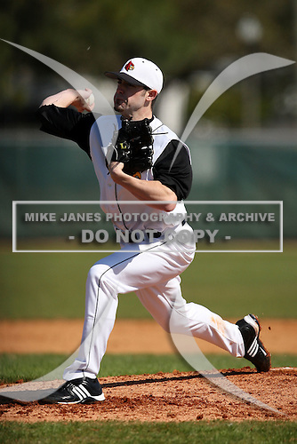 February 28, 2010:  Pitcher Tony Zych of the Louisville Cardinals during the Big East/Big 10 Challenge at Raymond Naimoli Complex in St. Petersburg, FL.  Photo By Mike Janes/Four Seam Images