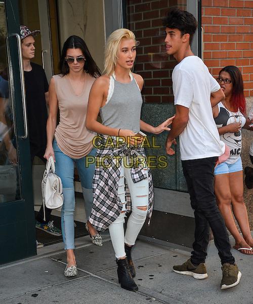 NEW YORK, NY - SEPTEMBER 1: Kendall Jenner, Hailey Baldwin, and friends in New York, New York on September 1, 2014. <br /> CAP/MPI/RW<br /> &copy;RW/MPI/Capital Pictures
