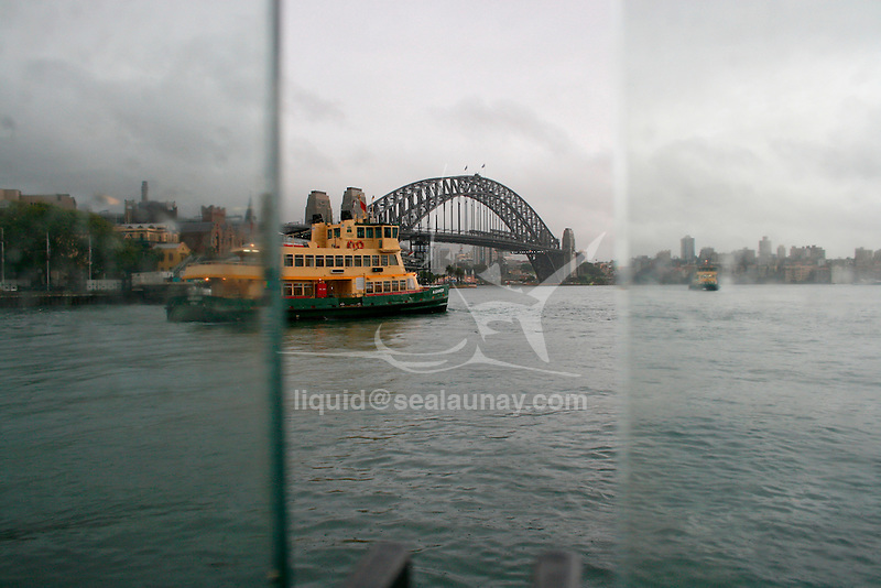 Travelling with Sydney Ferries in the Sydney Harbour.
