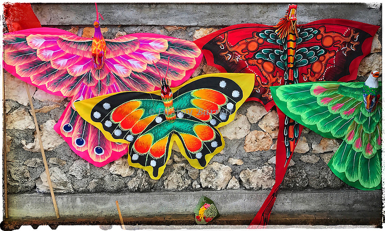Colorful Kites of Bali on display this photo was taken during one of my photo walk about in Sanur Bali Indonesia November 9, 2016. ©Fitzroy Barrett