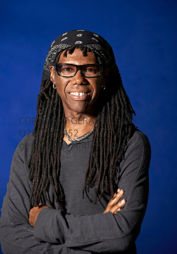 Nile Rodgers, Song Writer of Pop Music . Wrote Touched Like A Virgin for Madonna at The Edinburgh International Book Festival   . Credit Geraint Lewis