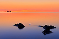 Lake Winnipeg at dawn<br /> Gimli<br /> Manitoba<br /> Canada