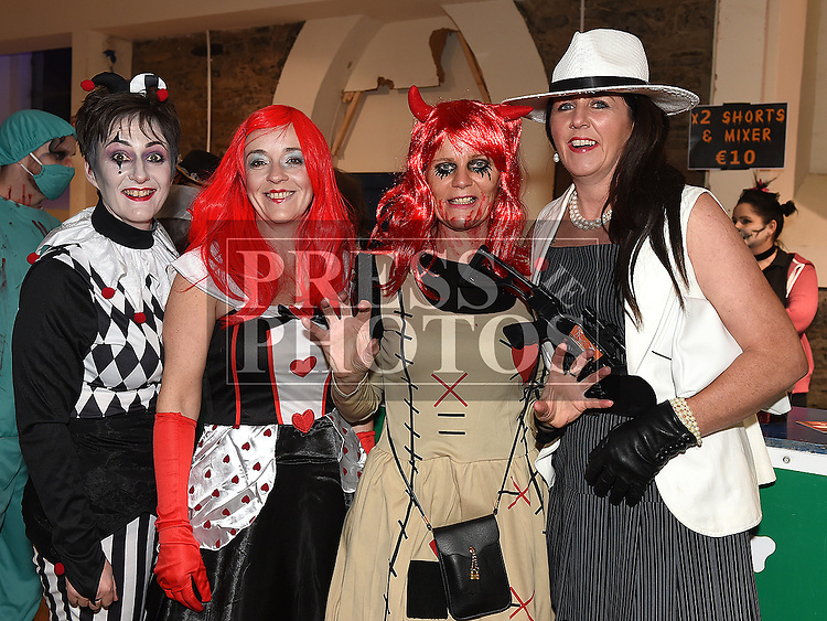 Tricia Durnin, Alison Duffy, Mauretta Melia and Angela Sweeney at the Halloween Ball in the old church Ardee in aid of St. Mary's GAA club. Photo:Colin Bell/pressphotos.ie