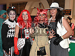Tricia Durnin, Alison Duffy, Mauretta Melia and Angela Sweeney at the Halloween Ball in the old church Ardee in aid of St. Mary's GAA club. Photo:Colin Bell/pressphotos.ieAndrea McConnon, Ian Corbally, Keith and Clare Farrelly