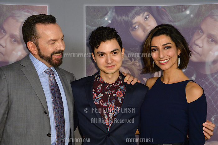 Alan Ball, Marwan Salama &amp; Necar Zadegan at the premiere for HBO's &quot;Here and Now&quot; at The Directors Guild of America, Los Angeles, USA 05 Feb. 2018<br /> Picture: Paul Smith/Featureflash/SilverHub 0208 004 5359 sales@silverhubmedia.com