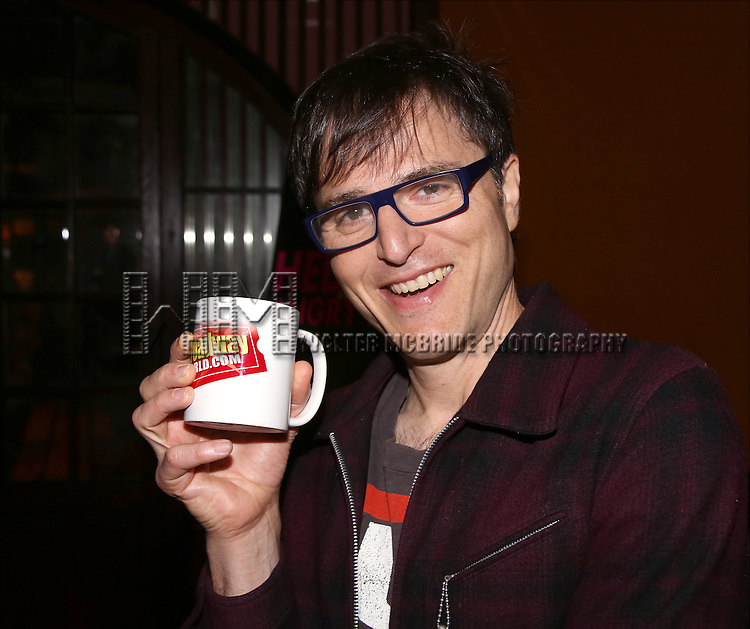 Stephen Trask attends the 'Hedwig and the Angry Inch'  Press Junket at The Lamb's Club on October 9, 2014  in New York City.