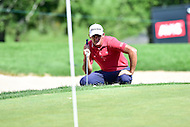 Bethesda, MD - June 26, 2016: Sam Saunders (USA) lines up a shot on hole seventeen during Final Round of play at the Quicken Loans National Tournament at the Congressional Country Club in Bethesda, MD, June 26, 2016. (Photo by Philip Peters/Media Images International)