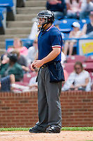 Home plate umpire Anthony Johnson during a Carolina League game at Ernie Shore Field in Winston-Salem, NC, Sunday, April 20, 2008.