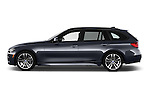 Car Driver side profile view of a 2017 BMW 3-Series 328d-Sports-Wagon 5 Door Wagon Side View