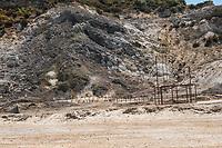 Pozzuoli, 19 Giugno, 2017. Una veduta della solfatara di Pozzuoli. L'intera area &egrave; considerata dagli esperti come una delle pi&ugrave; pericolose per quanto riguarda la possibile eruzione del vulcano sottostante.<br /> Antonello Nusca/Buenavista photo