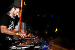 """DJ """"El G"""" playing at Zizek Club party with Pena Electrica at Konex in Buenos Aires, March 12, 2010"""