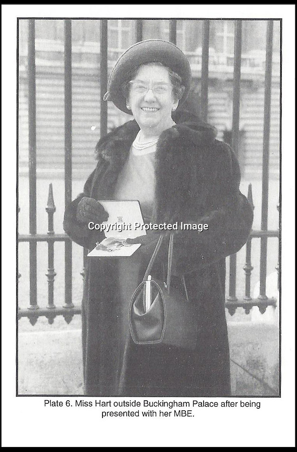 BNPS.co.uk (01202 558833)<br /> Pic: HenryAldridge/BNPS<br /> <br /> ***Please use full byline***<br /> <br /> Eva Hart outside Buckinham Palace after being presented with her MBE.<br /> <br /> The last ever letter written on Titanic in which a passenger wrote of the 'wonderful' journey her family had enjoyed has surfaced after 102 years.<br /> <br /> The letter, on Titanic headed notepaper, was penned just hours before the doomed liner struck an iceberg and sank with the loss of 1,522 lives.<br /> <br /> It was meant to have been posted by Esther Hart after the ship docked but was kept by the author, who survived the disaster along with her young daughter Eva.<br /> <br /> The incredible note is the only known surviving letter written on the fateful day - Sunday April 14, 1912. It is now expected to sell for £100,000 at auction.
