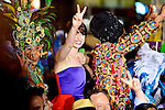 MIAMI BEACH, FL - MARCH 21: Anne Hathaway and Carlinhos Brown attends the 'Rio 2' Premiere at Fontainebleau Miami Beach on March 21, 2014 in Miami Beach, Florida. (Photo by Johnny Louis/jlnphotography.com)