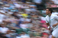 Andreas Mies (GER) during his match with Alexa Guarachi (CHI) against Andy Murray (GBR) & Serena Williams (USA) in their Mixed Doubles First Round Match<br /> <br /> Photographer Rob Newell/CameraSport<br /> <br /> Wimbledon Lawn Tennis Championships - Day 6 - Saturday 6th July 2019 -  All England Lawn Tennis and Croquet Club - Wimbledon - London - England<br /> <br /> World Copyright © 2019 CameraSport. All rights reserved. 43 Linden Ave. Countesthorpe. Leicester. England. LE8 5PG - Tel: +44 (0) 116 277 4147 - admin@camerasport.com - www.camerasport.com