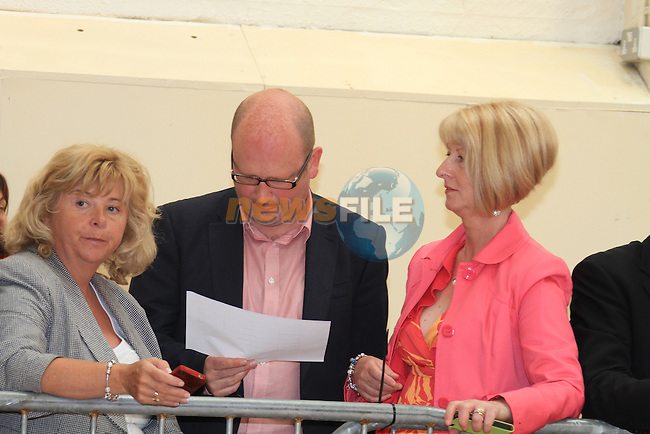 Ged Nash TD (C) at the Fiscal Treaty referendum votes are counted and sorted at the count centre in Dundalk, Co Louth..Picture Fran Caffrey www.newsfile.ie