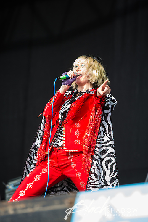 Yeah Yeah Yeahs performing at The Big Day Out, Melbourne, Flemington Racecourse, 26 January 2013