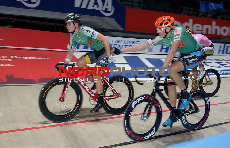 13.01.2015, &Ouml;VB Arena, Bremen, GER, Sixdays Bremen, im Bild Achim Burkart / Nils Politt (Team Karstadt Sport #4)<br /> <br /> Foto &copy; nordphoto / Frisch