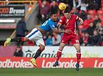 08.05.2018 Aberdeen v Rangers: Alfredo Morelos and Scott McKenna