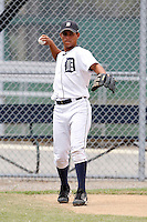 July 13, 2009:  Outfielder Luis Castillo of the GCL Tigers during a game at Tiger Town in Lakeland, FL.  The GCL Tigers are the Gulf Coast Rookie League affiliate of the Detroit Tigers.  Photo By Mike Janes/Four Seam Images