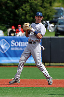 Connecticut Huskies infielder Tom Verdi (4) during game against Rutgers Scarlet Knights at Bainton Field in Piscataway, New Jersey;  May 01, 2011.  Connecticut defeated Rutgers 6-2.  Photo By Tomasso DeRosa/Four Seam Images