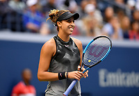 FLUSHING NY- SEPTEMBER 09: ***NO NY DAILIES*** Madison Keys reacts as she plays against Sloane Stephens. Stephens defeats Keys in straight sets 6-3, 6-0 during the Womens finals on Arthur Ashe Stadium at the US Open in the USTA Billie Jean King National Tennis Center on September 9, 2017 in Flushing Queens. <br /> CAP/MPI04<br /> &copy;MPI04/Capital Pictures