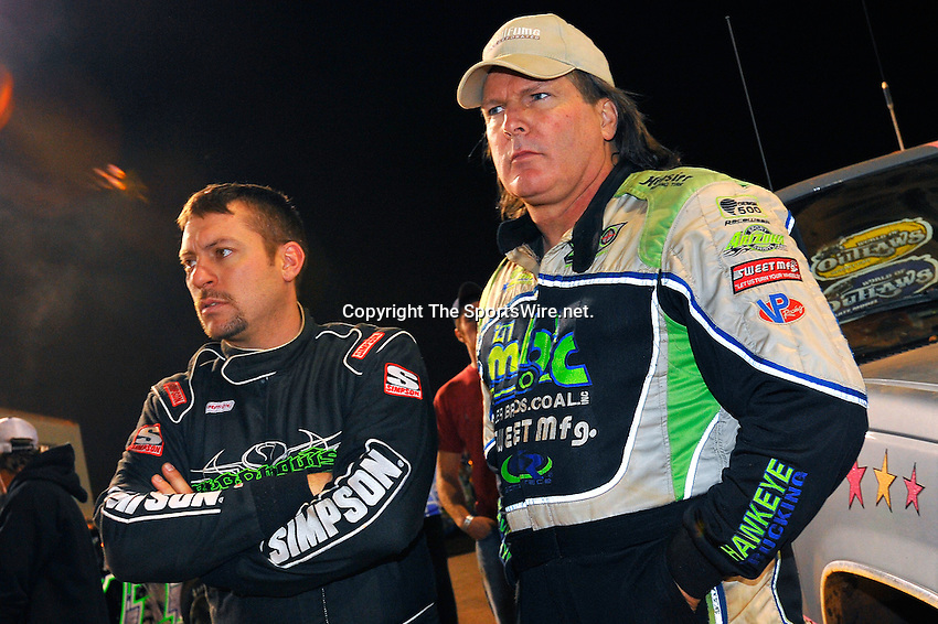 Nov 07, 2009; 7:13:41 PM; Concord, NC, USA; The third-annual World of Outlaws World Finals racing at The Dirt Track @ Lowe's Motor Speedway.  Mandatory Credit: (thesportswire.net)