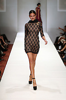 HOUSTON, TX - NOVEMBER 14 : Model walks the runway during a Chloe Dao show on day three of Fashion Houston Spring 2013 Presented By Audi at the Wortham Theatre Center on November 14, 2012 in Houston, Texas. (Photo by Louis Dollagaray/MediaPunch inc) /NortePhoto