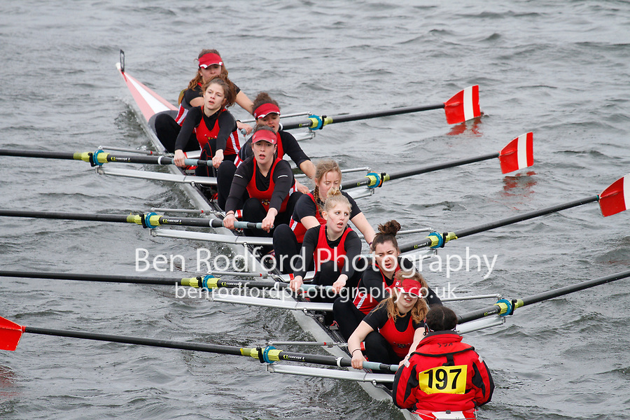 Crew: 197  Kingston G Sch  Event: Girls School 1st eights<br /> <br /> Schools' Head of the River 2017<br /> <br /> To purchase this photo, or to see pricing information for Prints and Downloads, click the blue 'Add to Cart' button at the top-right of the page.