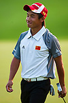 SHENZHEN, CHINA - OCTOBER 29:  Ren Han of China smiles during the day one of Asian Amateur Championship at the Mission Hills Golf Club on October 29, 2009 in Shenzhen, Guangdong, China.  (Photo by Victor Fraile/The Power of Sport Images) *** Local Caption *** Ren Han