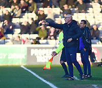 Port Vale manager Neil Aspin shouts instructions to his team from the technical area<br /> <br /> Photographer Andrew Vaughan/CameraSport<br /> <br /> The EFL Sky Bet League Two - Lincoln City v Port Vale - Tuesday 1st January 2019 - Sincil Bank - Lincoln<br /> <br /> World Copyright &copy; 2019 CameraSport. All rights reserved. 43 Linden Ave. Countesthorpe. Leicester. England. LE8 5PG - Tel: +44 (0) 116 277 4147 - admin@camerasport.com - www.camerasport.com