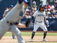 Freddy Galvis.<br /> Acciones del partido de beisbol, Dodgers de Los Angeles contra Padres de San Diego, tercer juego de la Serie en Mexico de las Ligas Mayores del Beisbol, realizado en el estadio de los Sultanes de Monterrey, Mexico el domingo 6 de Mayo 2018.<br /> (Photo: Luis Gutierrez)