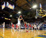 BROOKINGS, SD - FEBRUARY 22: Tori Nelson #20 of the South Dakota State Jackrabbits shoots a jumper against the South Dakota Coyotes Saturday at Frost Arena in Brookings, SD. (Photo by Dave Eggen/Inertia)