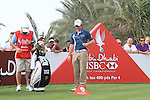 Rory McIlroy plays with one of Martin Kaymers clubs as he waits on him on the 14th tee on the final day of the Abu Dhabi HSBC Golf Championship 2011, at the Abu Dhabi golf club, UAE. 22/1/11..Picture Fran Caffrey/www.golffile.ie.