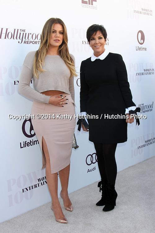 LOS ANGELES - DEC 10:  Khloe Kardashian, Kris Jenner at the 23rd Power 100 Women in Entertainment Breakfast at the MILK Studio on December 10, 2014 in Los Angeles, CA