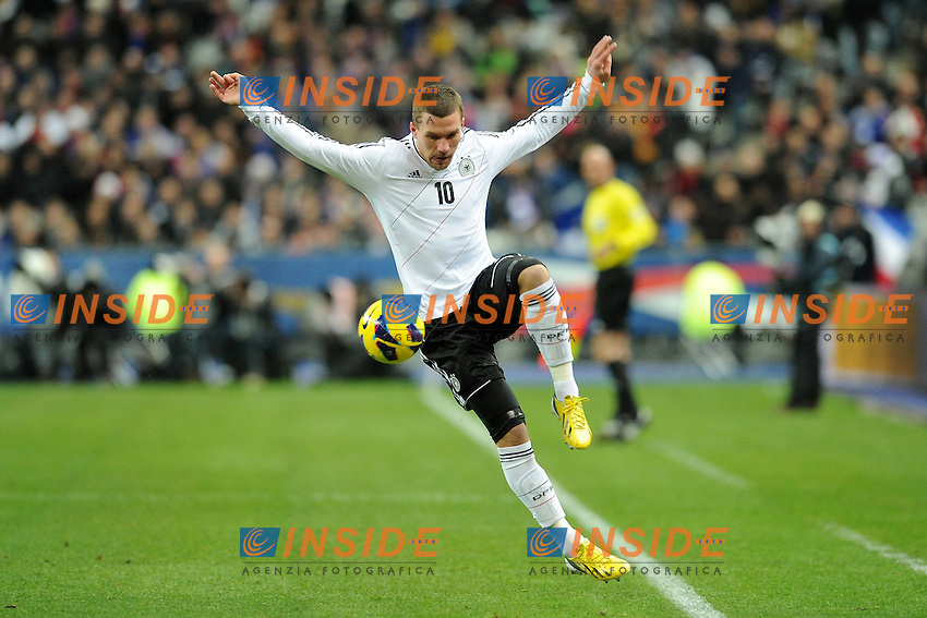 Lukas Podolski (Allemagne)  .Parigi 6/2/2013 .Football Calcio 2012/2013 Amichevole.Francia Germania.Foto Panoramic / Insidefoto.Italy Only