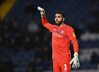 Brentford's David Raya, a product of the Blackburn Rovers academy, pulled off some great saves<br /> <br /> Photographer Dave Howarth/CameraSport<br /> <br /> The EFL Sky Bet Championship - Blackburn Rovers v Brentford - Wednesday 27th November 2019 - Ewood Park - Blackburn<br /> <br /> World Copyright © 2019 CameraSport. All rights reserved. 43 Linden Ave. Countesthorpe. Leicester. England. LE8 5PG - Tel: +44 (0) 116 277 4147 - admin@camerasport.com - www.camerasport.com