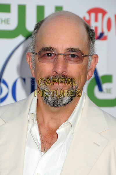 Richard Schiff.CBS, CW and Showtime Summer 2011 TCA Party held at The Pagoda, Beverly Hills, California, USA..August 3rd, 2011.headshot portrait white beige glasses goatee facial hair .CAP/ADM/BP.©Byron Purvis/AdMedia/Capital Pictures.
