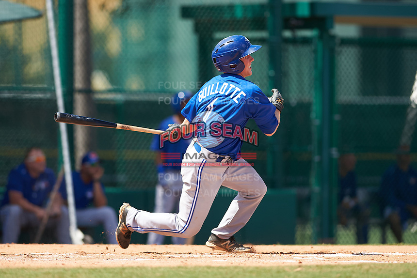 Toronto Blue Jays Andrew Guillotte (1) during an instructional league game against the Atlanta Braves on September 30, 2015 at the ESPN Wide World of Sports Complex in Orlando, Florida.  (Mike Janes/Four Seam Images)