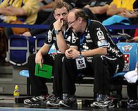 EHF Champions League Handball Damen / Frauen / Women - HC Leipzig HCL : SD Itxako Estella (spain) - Arena Leipzig - Gruppenphase Champions League - im Bild: HCL Trainer Heine Jensen und Co-Trainer Jochen Holz . Portrait Porträt Coach . Foto: Norman Rembarz .