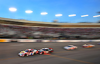 May 2, 2008; Richmond, VA, USA; NASCAR Nationwide Series driver Kasey Kahne (9) leads the field during the Lipton Tea 250 at the Richmond International Raceway. Mandatory Credit: Mark J. Rebilas-US PRESSWIRE